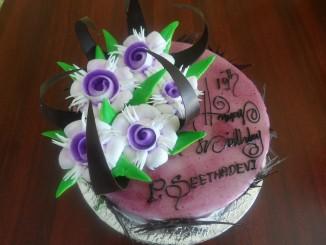 Blackcurrant Fresh Cream Cake